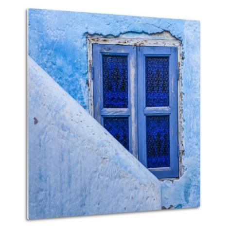 A Blue Painted Window in Le Jardin Des Biehn, a Riad or Small Hotel in the Medina of Fez-Richard Nowitz-Metal Print