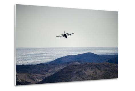 A Military Hercules Plane Flying Low over the Greenland Ice Sheet-Jason Edwards-Metal Print