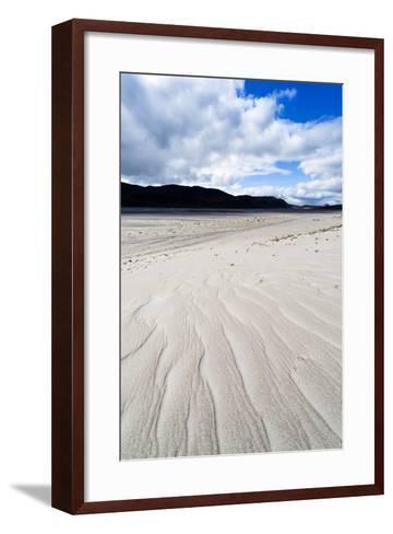 Wind Generated Linear Patterns on an Arctic Desert Sand Dune-Jason Edwards-Framed Art Print