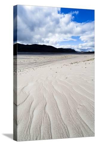Wind Generated Linear Patterns on an Arctic Desert Sand Dune-Jason Edwards-Stretched Canvas Print