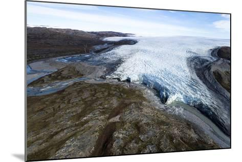 A River of Meltwater Flows from an Enormous Glacier into a Floodplain-Jason Edwards-Mounted Photographic Print