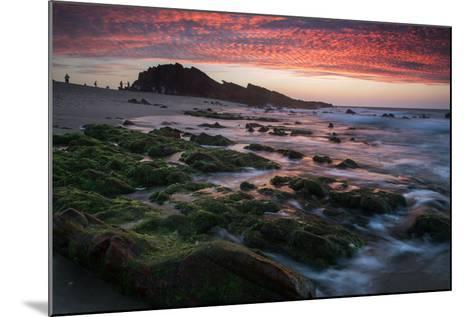 Sunset over Pedra Furada Rock Formation in Jericoacoara, Brazil-Alex Saberi-Mounted Photographic Print