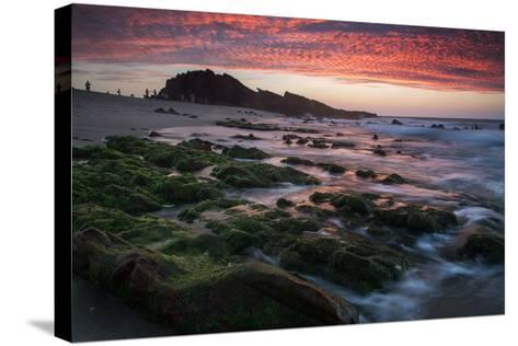 Sunset over Pedra Furada Rock Formation in Jericoacoara, Brazil-Alex Saberi-Stretched Canvas Print