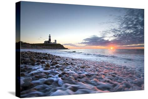 Sunrise at Montauk Point Lighthouse-Robbie George-Stretched Canvas Print