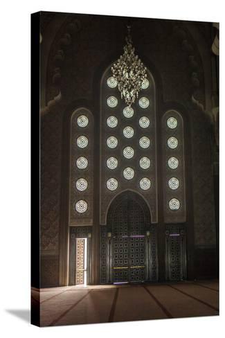 Interior Door and Window at the Hassan Ii Mosque, Casablanca, Morocco-Richard Nowitz-Stretched Canvas Print