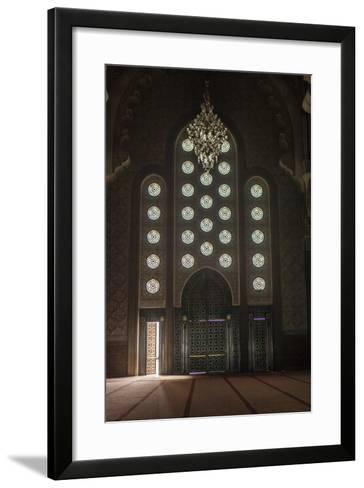 Interior Door and Window at the Hassan Ii Mosque, Casablanca, Morocco-Richard Nowitz-Framed Art Print