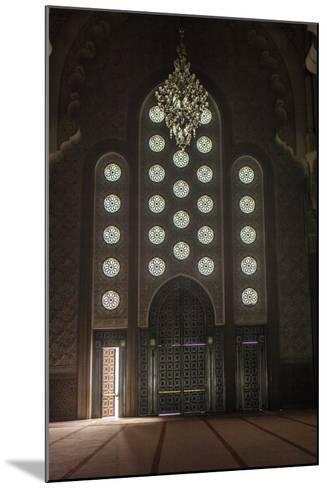 Interior Door and Window at the Hassan Ii Mosque, Casablanca, Morocco-Richard Nowitz-Mounted Photographic Print