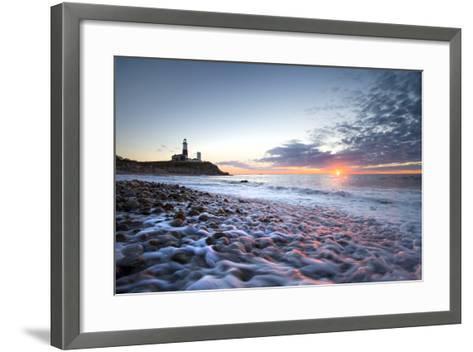 Sunrise at Montauk Point Lighthouse-Robbie George-Framed Art Print