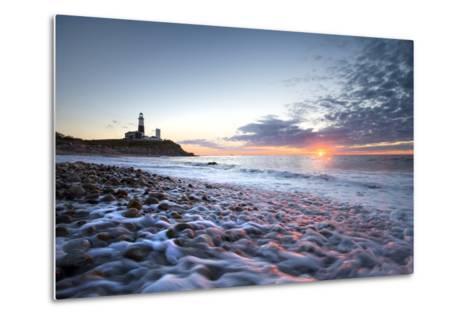 Sunrise at Montauk Point Lighthouse-Robbie George-Metal Print