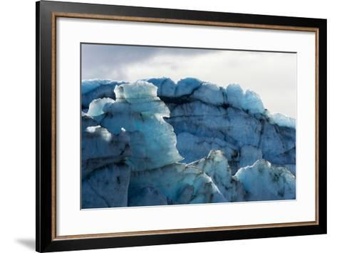 Treacherous Jagged Ice Spires on a Glacier Fracture Zone known as Serac-Jason Edwards-Framed Art Print