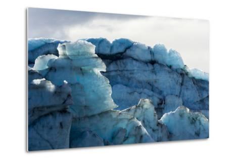 Treacherous Jagged Ice Spires on a Glacier Fracture Zone known as Serac-Jason Edwards-Metal Print
