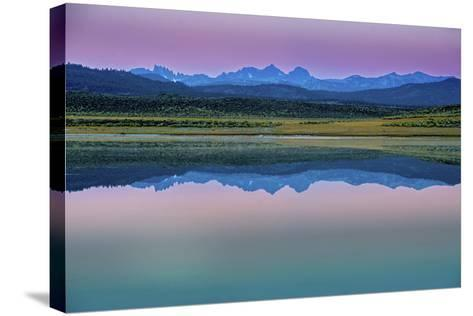 The Minarets and Mounts Ritter and Banner on the Eastern Sierra Nevada Crest-Gordon Wiltsie-Stretched Canvas Print