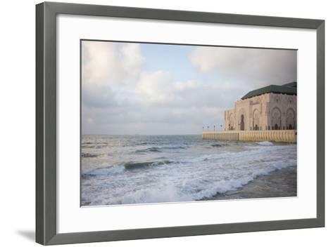 The Hassan Ii Mosque on the Edge of the Atlantic Ocean in Casablanca-Erika Skogg-Framed Art Print