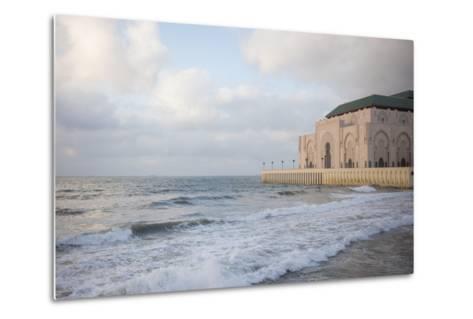 The Hassan Ii Mosque on the Edge of the Atlantic Ocean in Casablanca-Erika Skogg-Metal Print