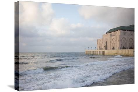 The Hassan Ii Mosque on the Edge of the Atlantic Ocean in Casablanca-Erika Skogg-Stretched Canvas Print