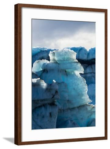 Treacherous Jagged Ice Spires on a Glacier Fracture Zone known as Serac-Jason Edwards-Framed Art Print