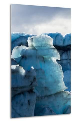 Treacherous Jagged Ice Spires on a Glacier Fracture Zone known as Serac-Jason Edwards-Metal Print