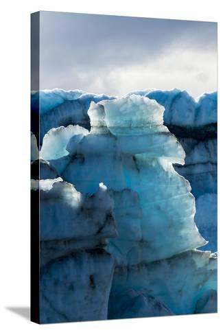 Treacherous Jagged Ice Spires on a Glacier Fracture Zone known as Serac-Jason Edwards-Stretched Canvas Print