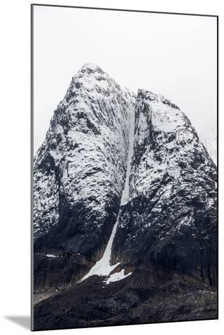 A Rugged Cone-Shaped Mountain Summit Dusted in Snow and Ice-Jason Edwards-Mounted Photographic Print