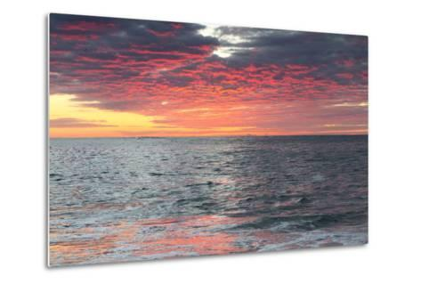 Clouds and Water Reflect Vivid Pinks from Early Morning Light-Robbie George-Metal Print