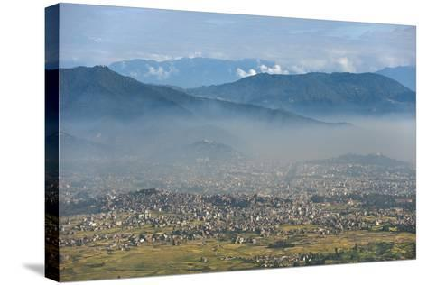 Kathmandu Valley Seen from the Top of Hatiban Resort-Alex Treadway-Stretched Canvas Print