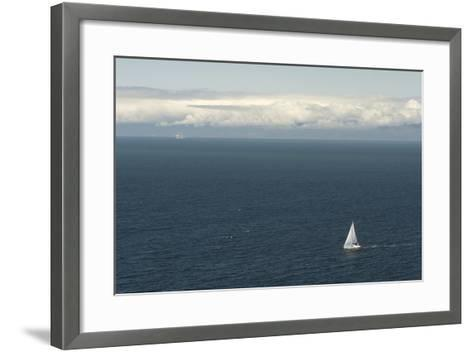 A Sailboat in Waters Off Anacapa Island in Channel Islands National Park-Phil Schermeister-Framed Art Print