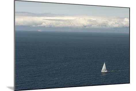 A Sailboat in Waters Off Anacapa Island in Channel Islands National Park-Phil Schermeister-Mounted Photographic Print