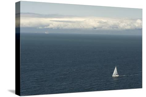 A Sailboat in Waters Off Anacapa Island in Channel Islands National Park-Phil Schermeister-Stretched Canvas Print