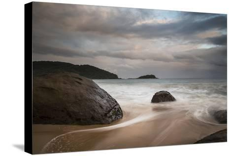 A Long Exposure of Praia Prumirim at Sunset in Ubatuba, Brazil-Alex Saberi-Stretched Canvas Print