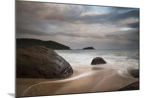 A Long Exposure of Praia Prumirim at Sunset in Ubatuba, Brazil-Alex Saberi-Mounted Photographic Print