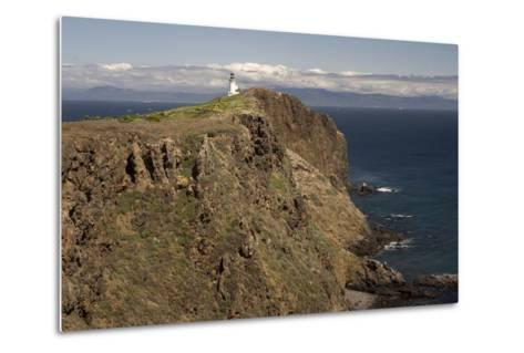 The Anacapa Lighthouse on Anacapa Island in Channel Islands National Park-Phil Schermeister-Metal Print