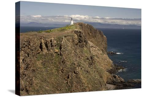 The Anacapa Lighthouse on Anacapa Island in Channel Islands National Park-Phil Schermeister-Stretched Canvas Print