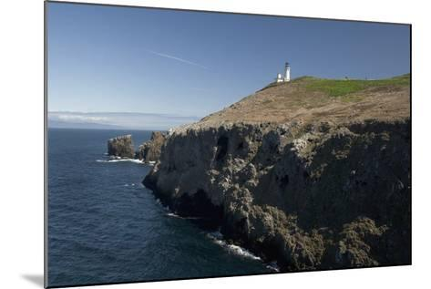 The Anacapa Lighthouse on Anacapa Island in Channel Islands National Park-Phil Schermeister-Mounted Photographic Print