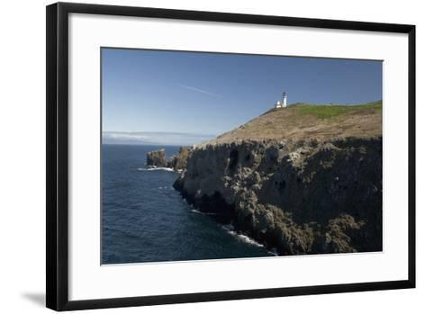The Anacapa Lighthouse on Anacapa Island in Channel Islands National Park-Phil Schermeister-Framed Art Print