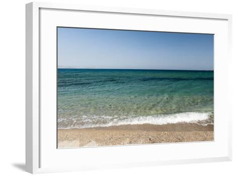 A Scenic View of the Aegean Sea from Soros Beach, on Antiparos Island-Sergio Pitamitz-Framed Art Print
