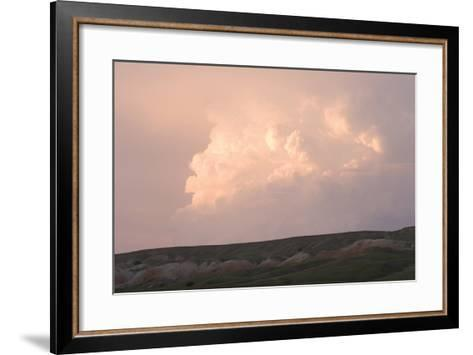 Late Afternoon Clouds Above the Buffalo Gap National Grasslands-Phil Schermeister-Framed Art Print