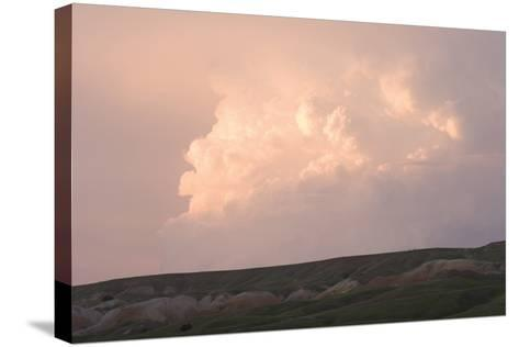 Late Afternoon Clouds Above the Buffalo Gap National Grasslands-Phil Schermeister-Stretched Canvas Print