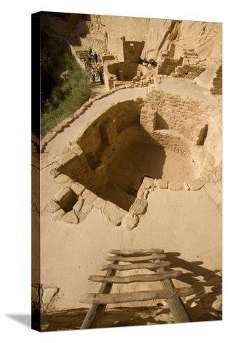 The Ruins of a Cliff Dwelling, Cliff Palace, in Mesa Verde National Park-Phil Schermeister-Stretched Canvas Print