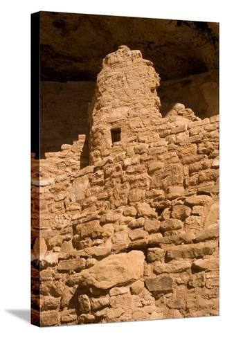 Ruins of a Small Cliff Dwelling, Step House, in Mesa Verde National Park-Phil Schermeister-Stretched Canvas Print