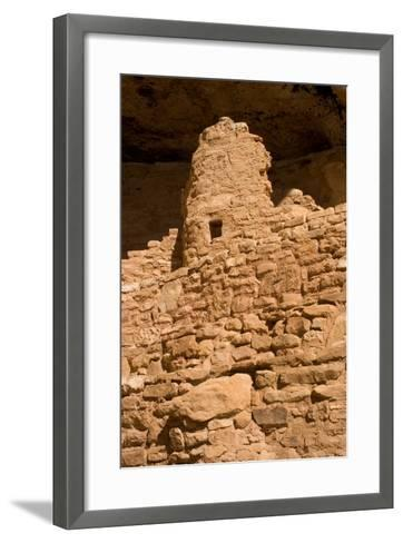 Ruins of a Small Cliff Dwelling, Step House, in Mesa Verde National Park-Phil Schermeister-Framed Art Print