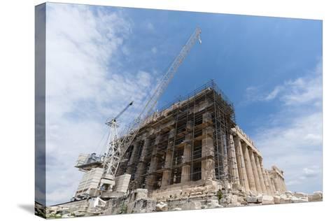 Restoration of the Parthenon, Acropolis-Sergio Pitamitz-Stretched Canvas Print