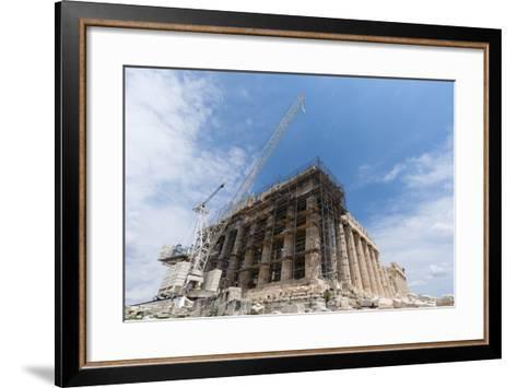 Restoration of the Parthenon, Acropolis-Sergio Pitamitz-Framed Art Print