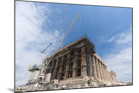 Restoration of the Parthenon, Acropolis-Sergio Pitamitz-Mounted Photographic Print