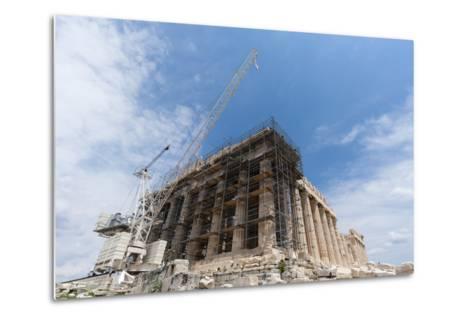 Restoration of the Parthenon, Acropolis-Sergio Pitamitz-Metal Print