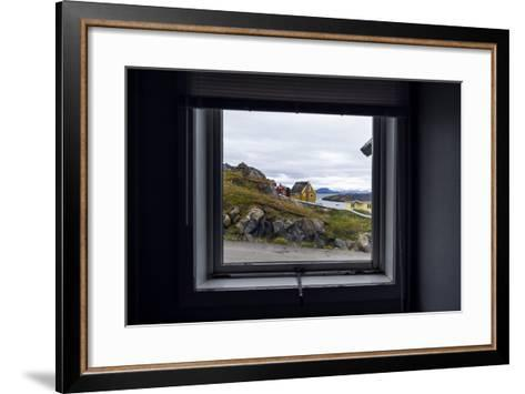 The View of Cottages in an Arctic Village Through a Weather-Sealed Window-Jason Edwards-Framed Art Print