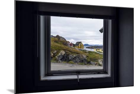 The View of Cottages in an Arctic Village Through a Weather-Sealed Window-Jason Edwards-Mounted Photographic Print
