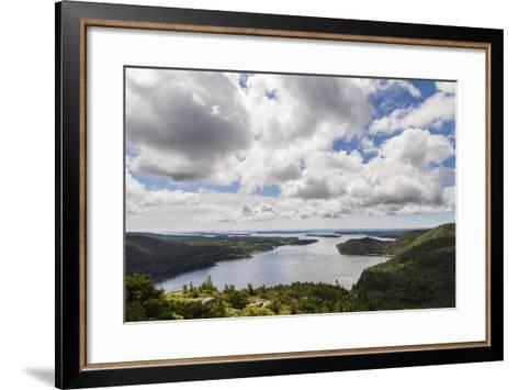 Somes Sound from the Summit of Acadia Mountain in Acadia National Park-Hannele Lahti-Framed Art Print