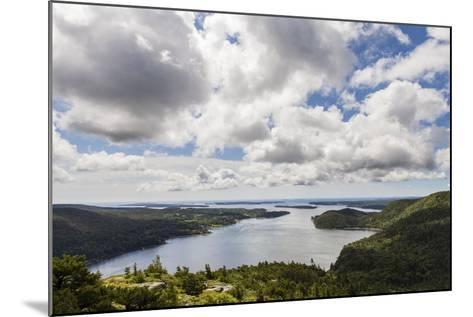 Somes Sound from the Summit of Acadia Mountain in Acadia National Park-Hannele Lahti-Mounted Photographic Print