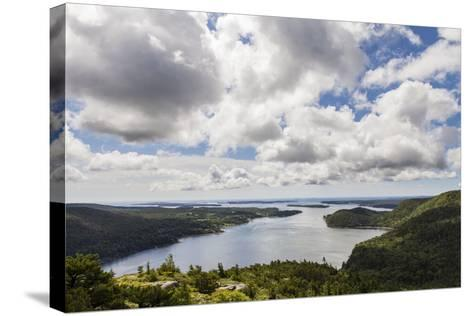 Somes Sound from the Summit of Acadia Mountain in Acadia National Park-Hannele Lahti-Stretched Canvas Print