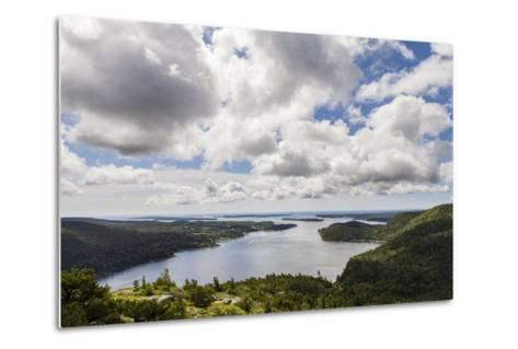 Somes Sound from the Summit of Acadia Mountain in Acadia National Park-Hannele Lahti-Metal Print